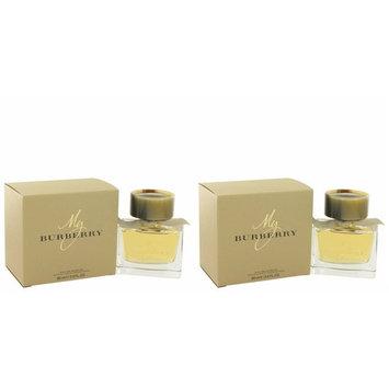 My Bürberry Perfúme For Women 3 oz Eau De Parfum Spray + a FREE 6.7 oz Hand & Body Cream (PACKAGE OF 2)