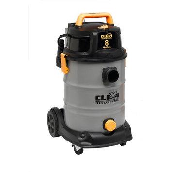 Cleva Industrial Vacuums 8-gal. Industrial Wet/Dry Vacuum with 2-Stage Motor Grays VK811SIWD