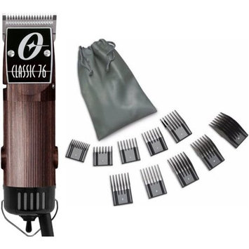 Oster Classic 76 Wood Wooden Color + 10 PC Comb Set