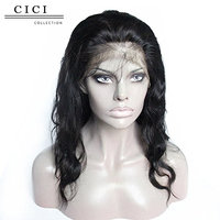 Cici Collection 150% Density 360 Lace Frontal Wig Pre Plucked with Baby Hair 360 Full Frontal Lace Wigs Bleached Knots Body Wave Lace Front Human Hair Wigs For Women (20inch, Body Wave)