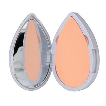 Fenleo Heart Shape Latex Puff Powder Foundation Puff Makeup Mirror and Puff Set