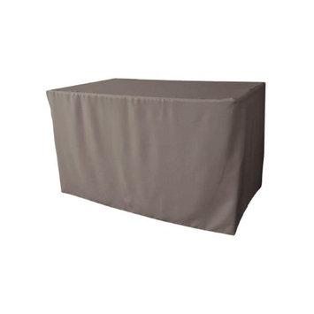 LA Linen TCpop-fit-48x30x30-GrayDrkP12 1.8 lbs Polyester Poplin Fitted Tablecloth Dark Gray