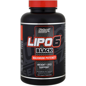 Nutrex Research Labs, Lipo 6 Black, Extreme Potency, 120 Black-Caps