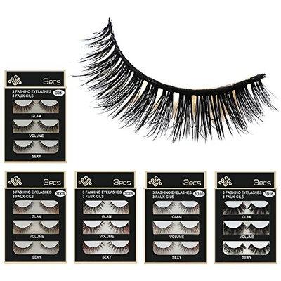 3D Eyelash Cinidy New Lashes 30Pairs 5 Styles Lashes Handmade False Eyelashes Set Natural Soft and Comfortable