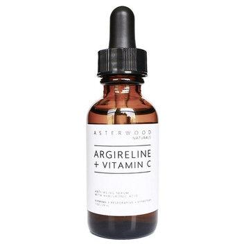 ARGIRELINE Peptide + Vitamin C 1 oz Serum with Organic Hyaluronic Acid - Anti Aging, Amazing Sun Damage Repair & Botox Alternative - ASTERWOOD NATURALS - Glass Bottle