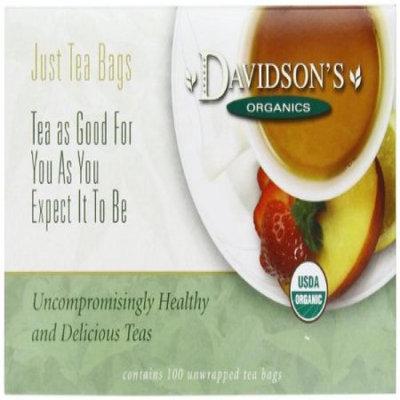 Davidson's Tea Davidson Organic Tea 174 White Peach Tea Box of 100 Tea Bags