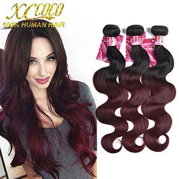 XCCOCO Ombre Body Wave Hair Weave 3 Bundles(14