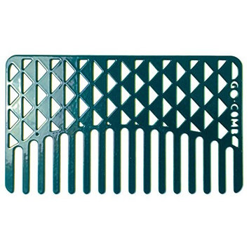 Go-Comb + Mirror - Brass Tile Hair Comb + Mirror - Fit For Your Wallet