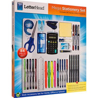 Midwest Trading Group LetterHeadT Mega Stationery 84 Piece Set
