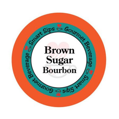Smart Sips COFBROSUGE24 Brown Sugar Bourbon Gourmet Coffee for All Keurig K-cup Machines 24 Count