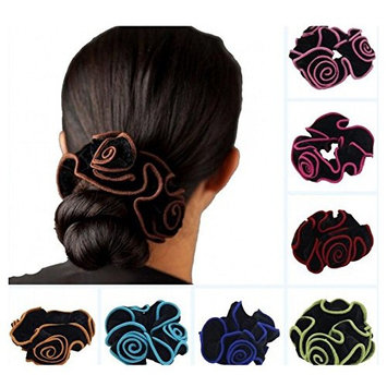 10 Pieces Floral Velvet Cloth Scrunchies Hair Tie Hair Accessories Ponytail Holder Elastic Hair Band