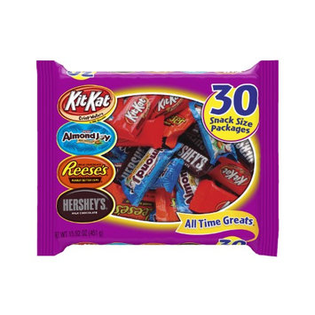 Hershey's(R) All-Time Greats Snack-Size Assortment, 30 Pieces, Pack Of 2 Bags