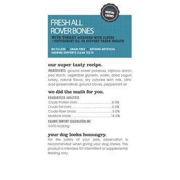 I and Love and You Fresh All Rover Breath Bones Turkey Flavor Small Breed Dog Treats, 3.5 Oz, 5 Ct