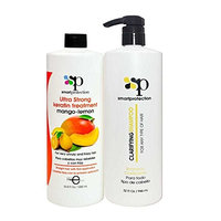 Mango-Lemon Ultra Strong Keratin Treatment with Clarifying Shampoo 33.8oz by Smart Protection