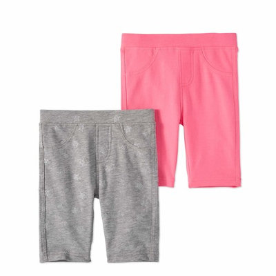 Freestyle Revolution Girls' French Terry Solid and Print Bermuda Short 2-Pack Set