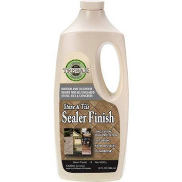 Trewax Professional Stone Tile Indoor Outdoor Sealer Finish, 32-Ounce