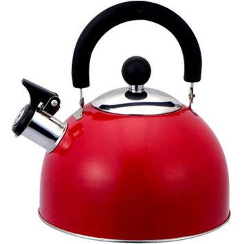 Hds Trading Home Basics Tea Kettle Whistling - 2.6 quart Kettle - Stainless Steel - 12 Piece(s) / Case