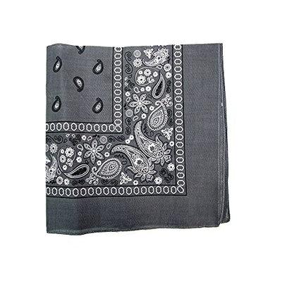 Paisley Bandanas Head Wrap, 100% Cotton Double Sided, 21 x 21 Inch