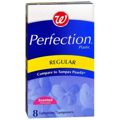W WALGREENS BRAND REGULAR PLASTIC TAMPONS 8CT (LOT OF 3 BOXES = 24 TOTAL) COMPARE TO TAMPAX PEARL