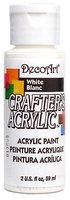 DecoArt Crafters Acrylic 2 oz. bottle white