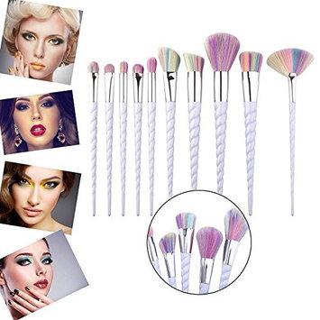 Makeup Brush Set,10 Pcs Unicorn Thread Make Up Brushes Foundation Face Eyebrow Eyeliner Cosmetics Brush