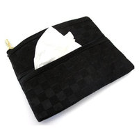 Coin Purse & Pouch with Pocket Tissue Holder, Satin Fabric