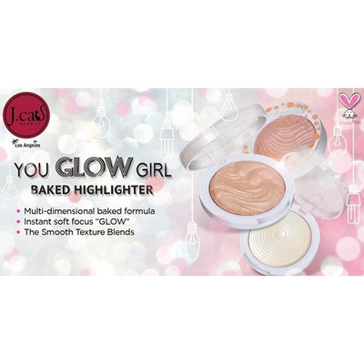 You Glow Girl Bundle by J Cat Beauty - Shimmering Skin Highlighter Set of 3 Shades – for instant Glowing Skin (White Goddess, Twilight & Pink Goddess) will give you Instant soft focus GLOW