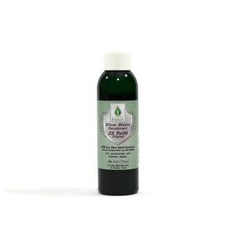 Silver Shield Deodorant 2X Refill - Original Formula | All Natural Colloidal Silver Deodorant | 4 oz. Refill