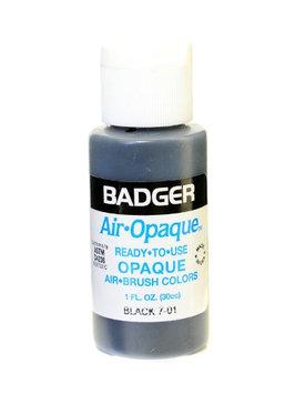 Badger Air Opaque Airbrush Color black, 1 oz. bottle