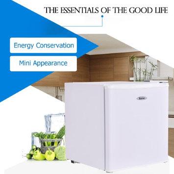 Costway Stainless Steel Refrigerator Small Freezer Cooler Fridge Compact 1.7 cu ft. Unit