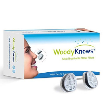 WoodyKnows Ultra Breathable Nose Nasal Filters (New Model) for Hay Fever, Pollen Dust Allergies