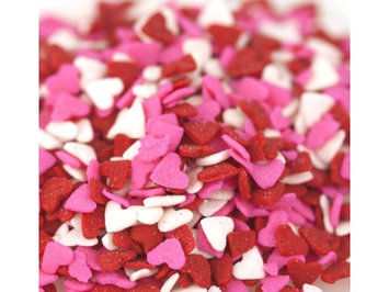 Kerry Valentine Heart Shapes Red/White/Pink Bakery Topping Sprinkles 1 pound