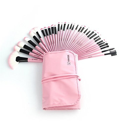 SFE 🍀32PCS Makeup brush, Professional 32 Pieces Makeup Brush Set Synthetic Foundation Blending Brush With Beauty Fold Able Pouch