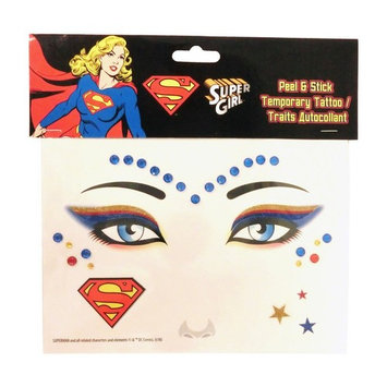 Super Girl Peel and Stick Jewels Face Tattoos