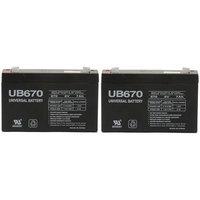 6 volt 7.0 Ah Rechargeable Battery - 2 Pack