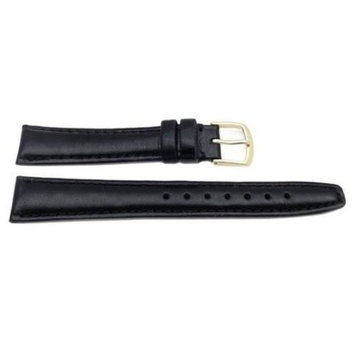 Hadley Roma Genuine Leather Black 18mm Hypo Allergenic Watch Band