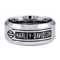 Hot Wheels Harley-Davidson Size 10 Men's H-D Bar Script Stainless Steel Band Ring, (10) HSR0026