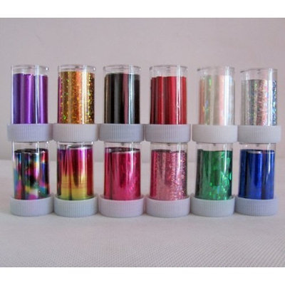 Nail Art Fashion New Rolls Mix Colors Transfer Foil Set Nail Tip Decoration by Etopsell