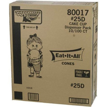 Cone Keebler Eat It All Cake 25D For Dispenser - 1000 per case.
