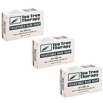 Tea Tree Therapy, Soap Bar, Vegetable Base, 3.5 oz