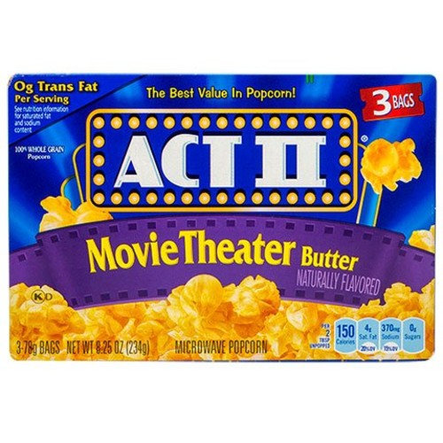 ACT II Microwave Popcorn (Movie Theater Butter) 8.25oz. 6 packs