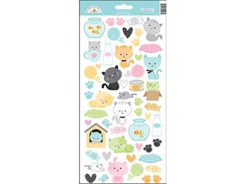 Doodlebug Kitten Smitten Sticker Icons