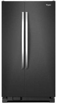 Black Ice Whirlpool(R) 22 cu. ft. Whirlpool(R) Side-by-Side Refrigerator with LED Lighting