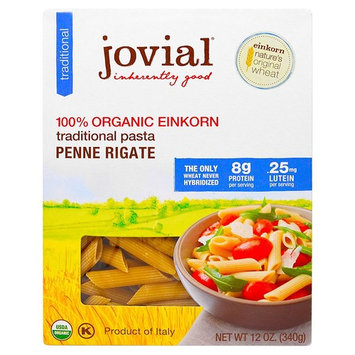 Jovial, Organic Traditional Einkorn Pasta, Penne Rigate, 12 oz (340 g)(Pack of 2)