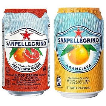 San Pellegrino Sparkling Beverage, Orange, Blood Orange Variety, 11.15 floz cans 24 count