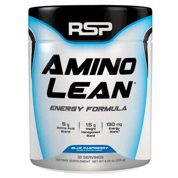 RSP AminoLean - Amino Energy + Fat Burner, Pre Workout, Amino Acids & Weight Loss Powder for Men & Women, Blue Raspberry, 30 Servings [Blue Raspberry]