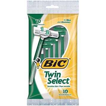 BIC Twin Select Sensitive Skin Disposable Shaver for Men, 30 Count