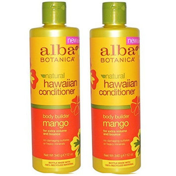 Alba Botanica Mango Body Builder Shampoo 12 oz (Set of 2)
