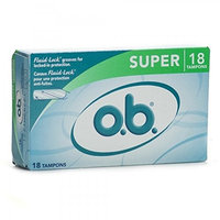 O.B Super 18 Tampons Fluid Lock Protection