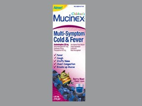 Children's Mucinex Multi-symptom Cold & Fever MUCINEX, LIQ CHLD COLD & FEVER 5-325MG/10ML 4OZ